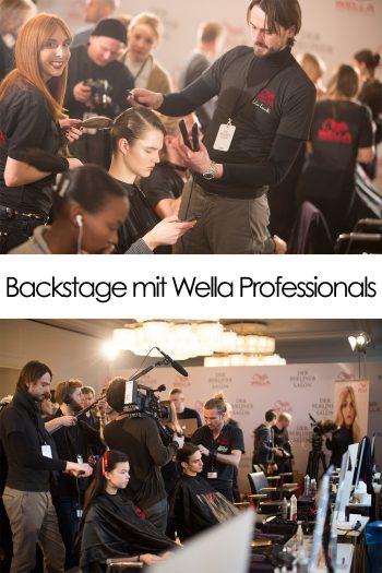 Backstage bei der MBFWB AW16 mit Wella