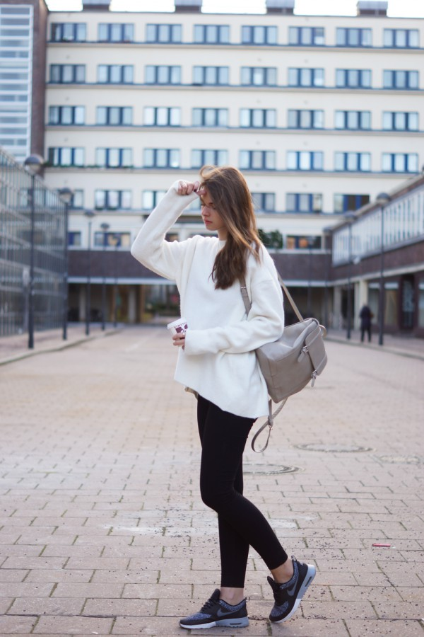 oversized pullover und skinny jeans