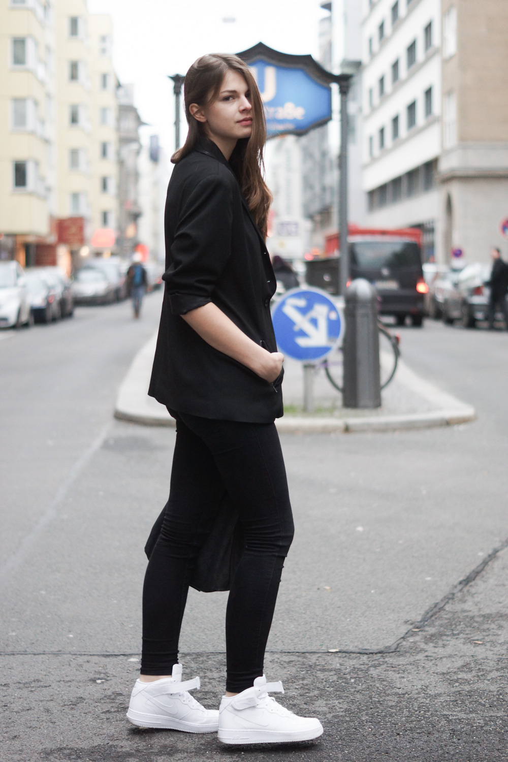 total black outfit