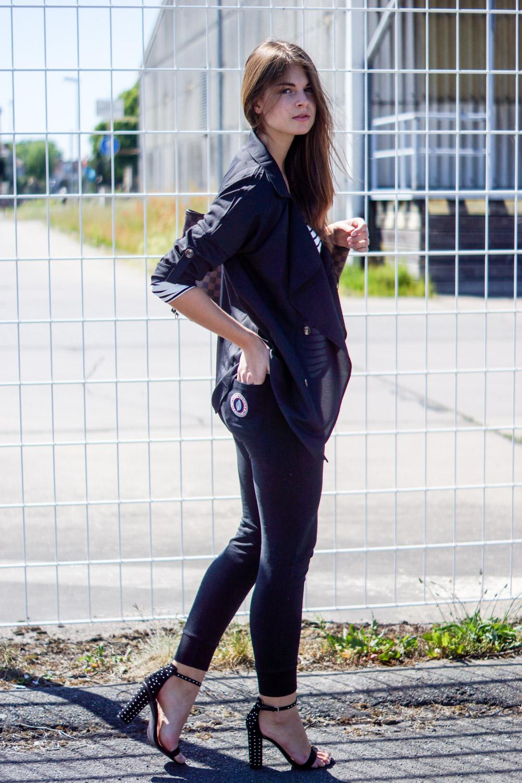 schwarze Sweet Pants