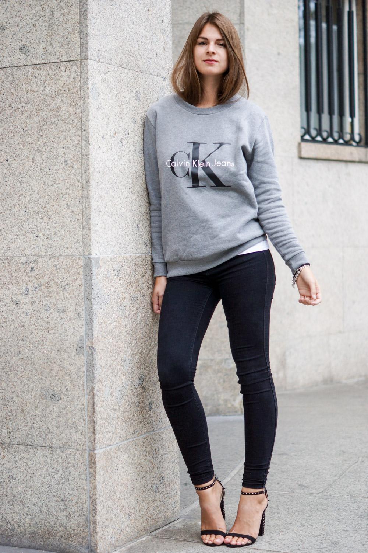 Casual Outfit in schwarz und grau