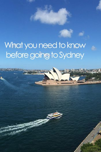 What you need to know before going to Sydney