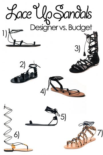 Lace Up Sandalen Trend 2015 – vom teuren Designer Modell bis hin zur günstigen Lace Up Sandalen Alternative