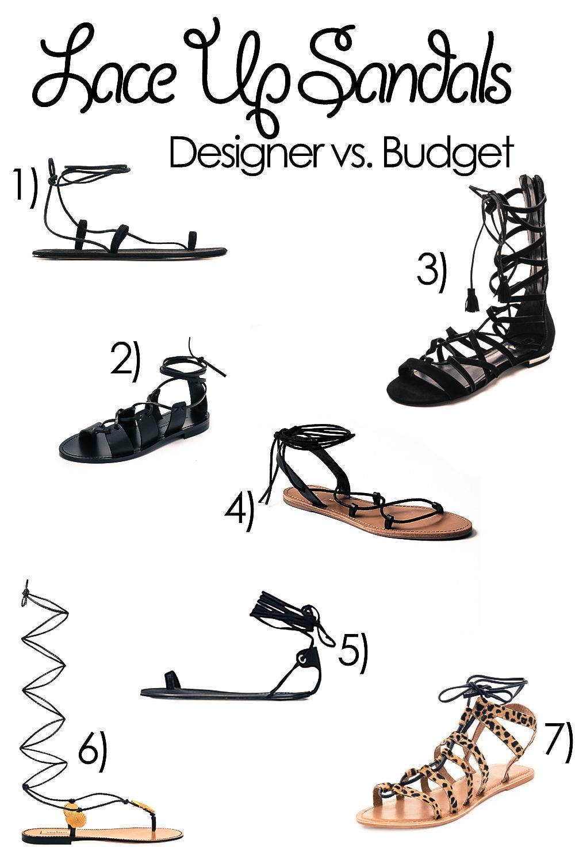 Lace Up Sandals Trend 2015