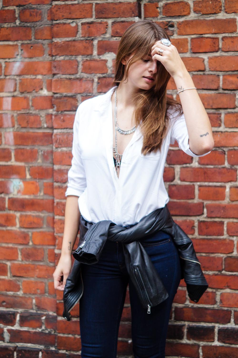 Klassisches Weißes Shirt