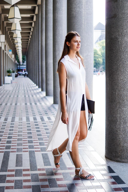 White Long-Blouse from Zara