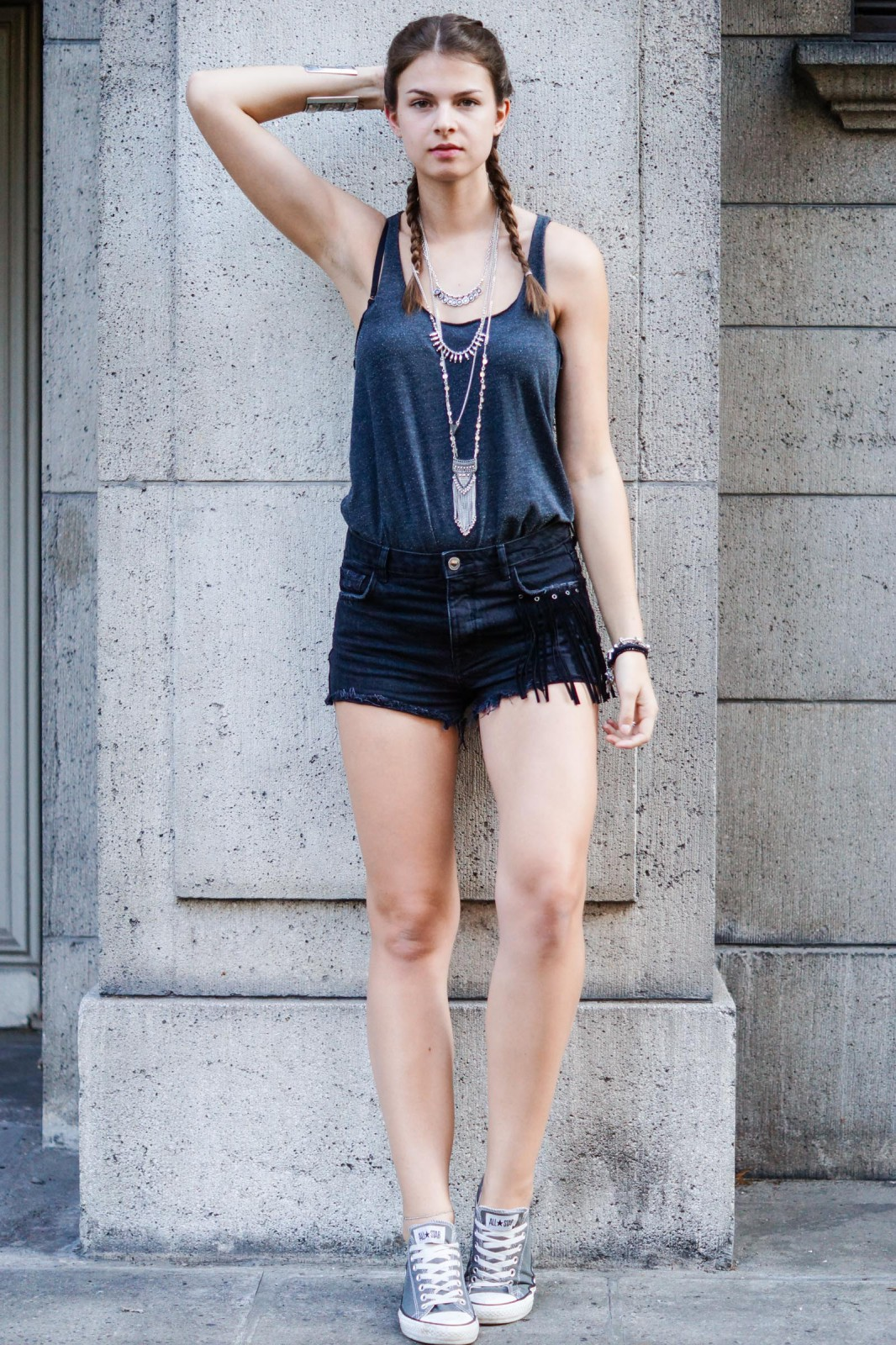 Bershka Shorts with Fringes