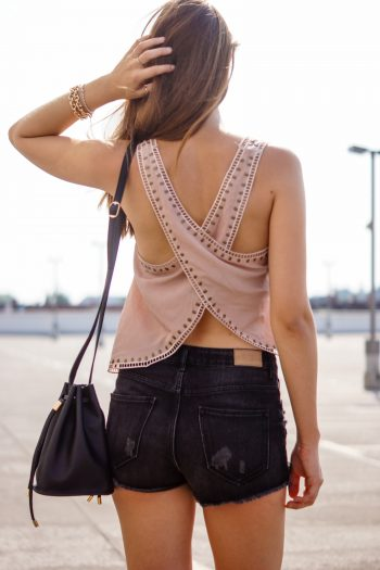 Top with Crossed Back