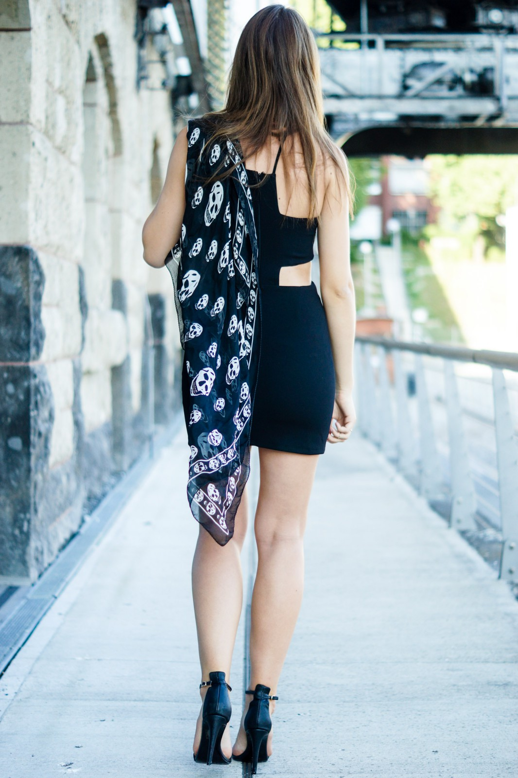 Scarf and Dress Outfit