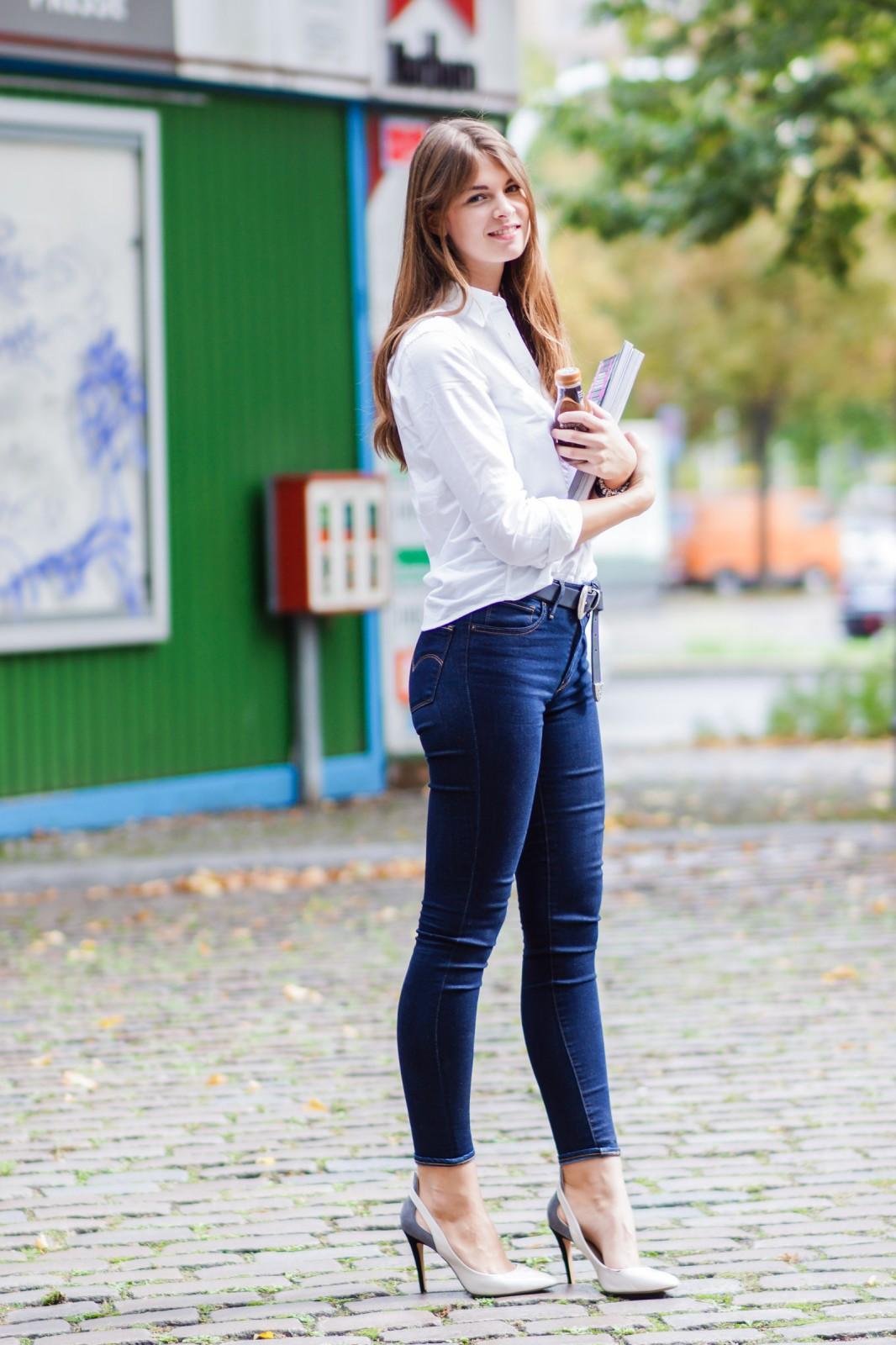 zweifarbige High Heels von Zara