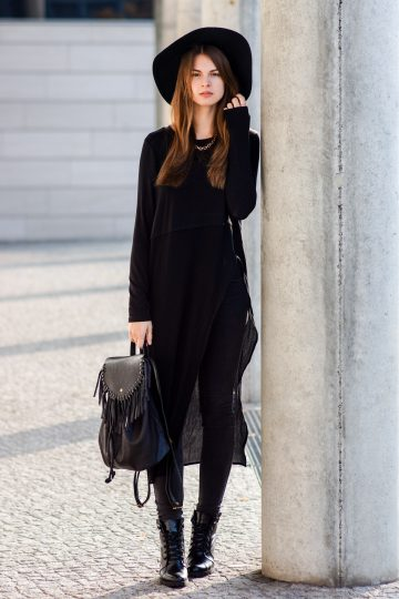 Asymmetrisches Long Shirt