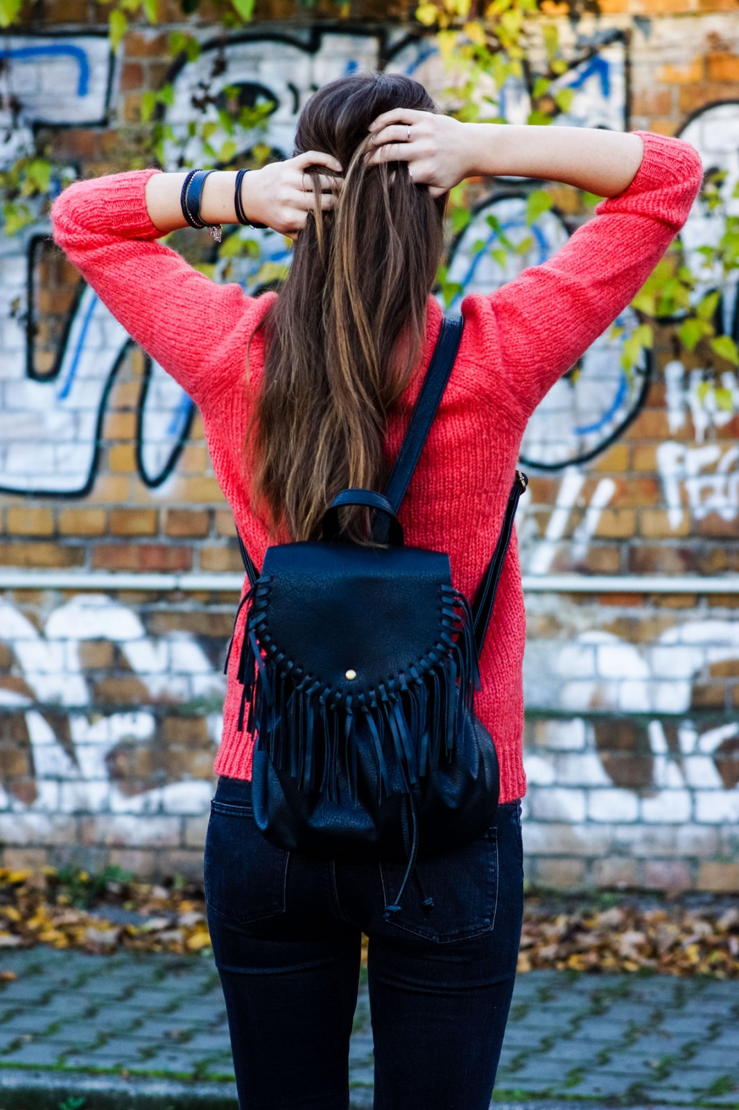 Backpack with Fringes