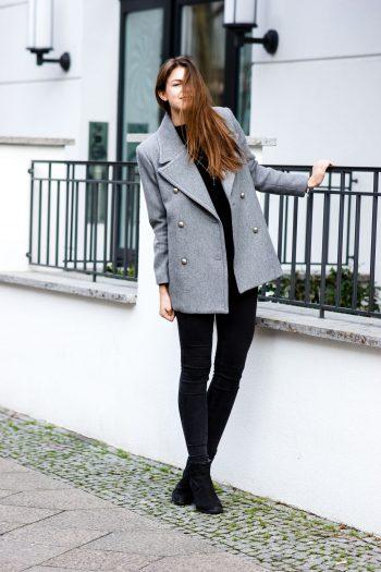 Der perfekte graue Mantel