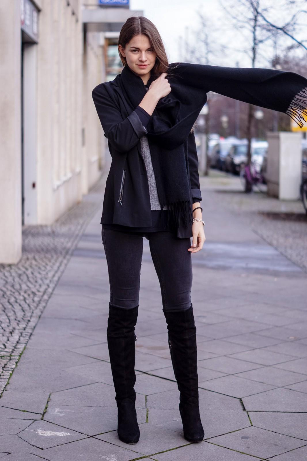 Schwarzer Topshop Schal