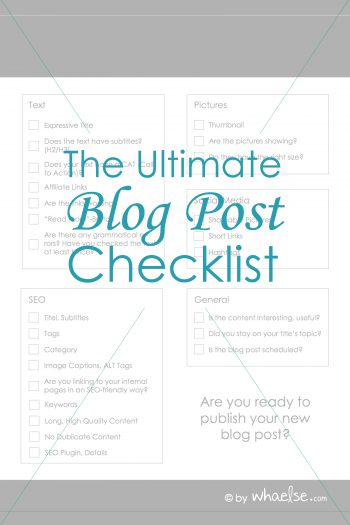 What you have to do before publishing your blog post!