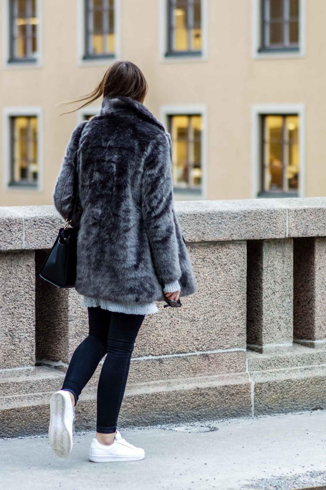 Warehouse Fake Fur Jacket