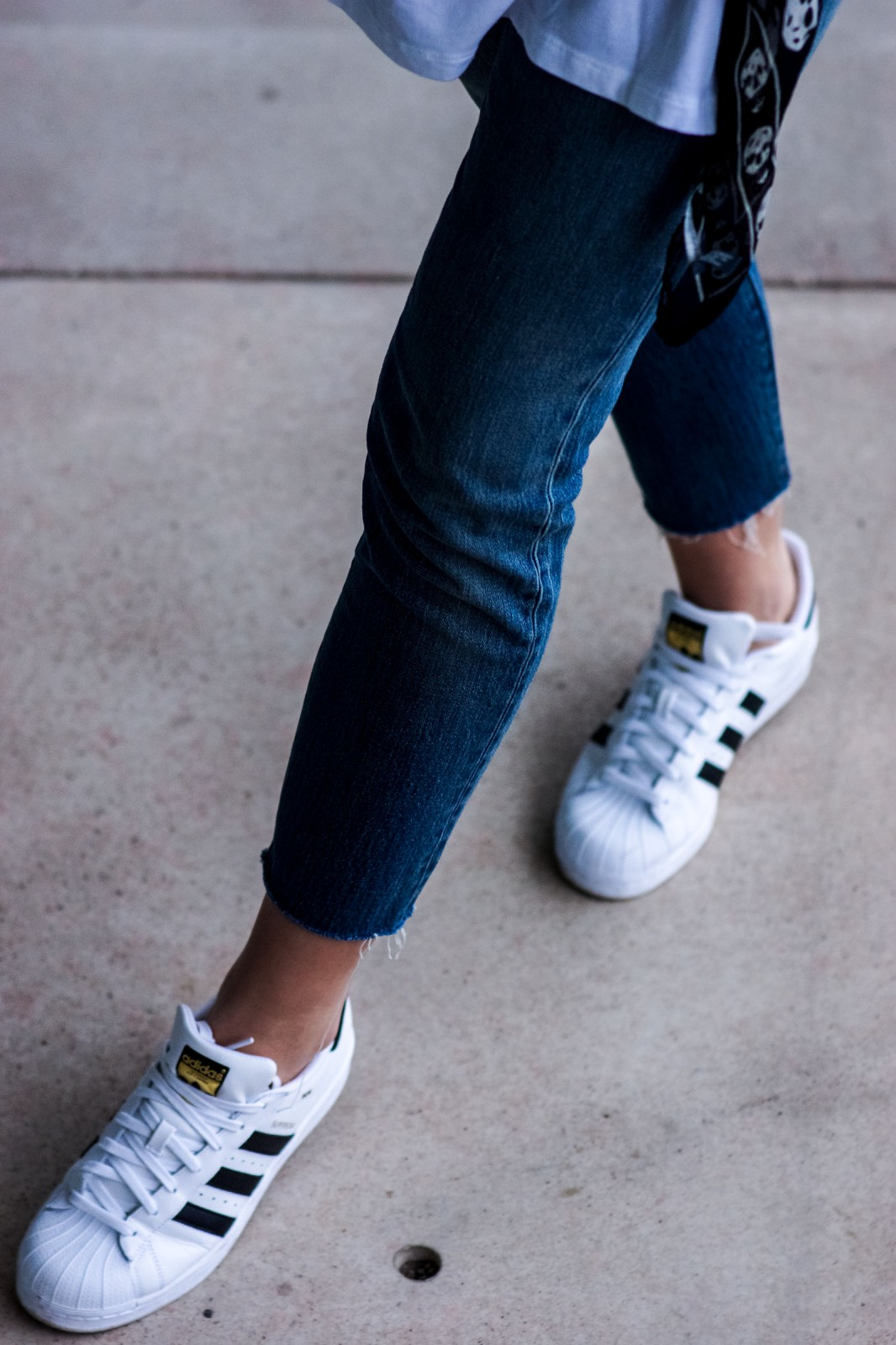 White Sneakers and Denim