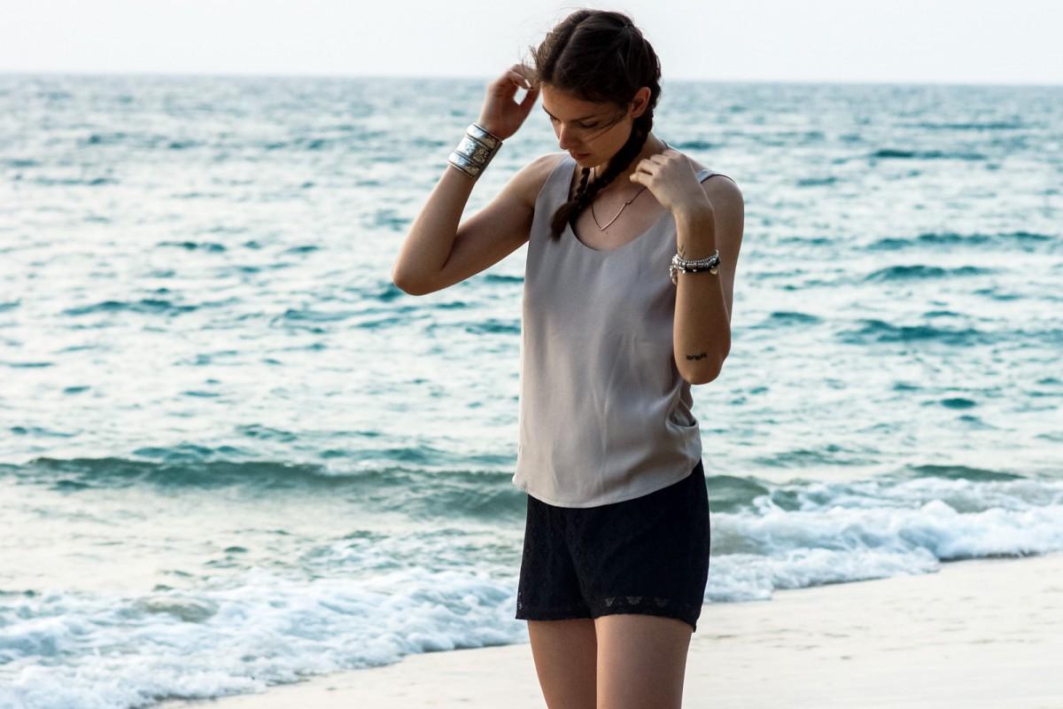 VILA Lace Shorts