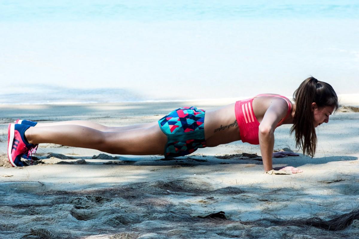 Push Up on the beach