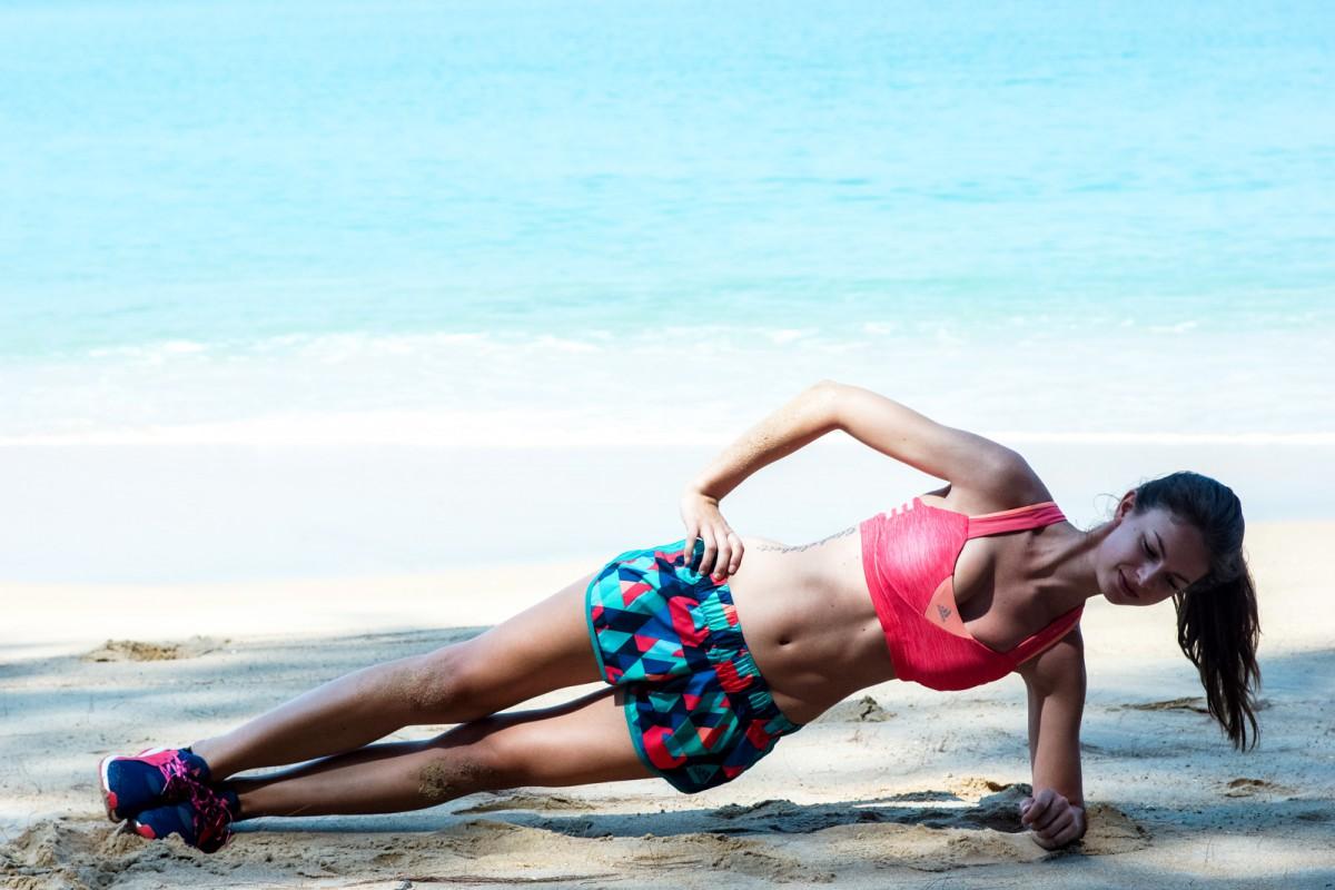 Side Plank on the beach