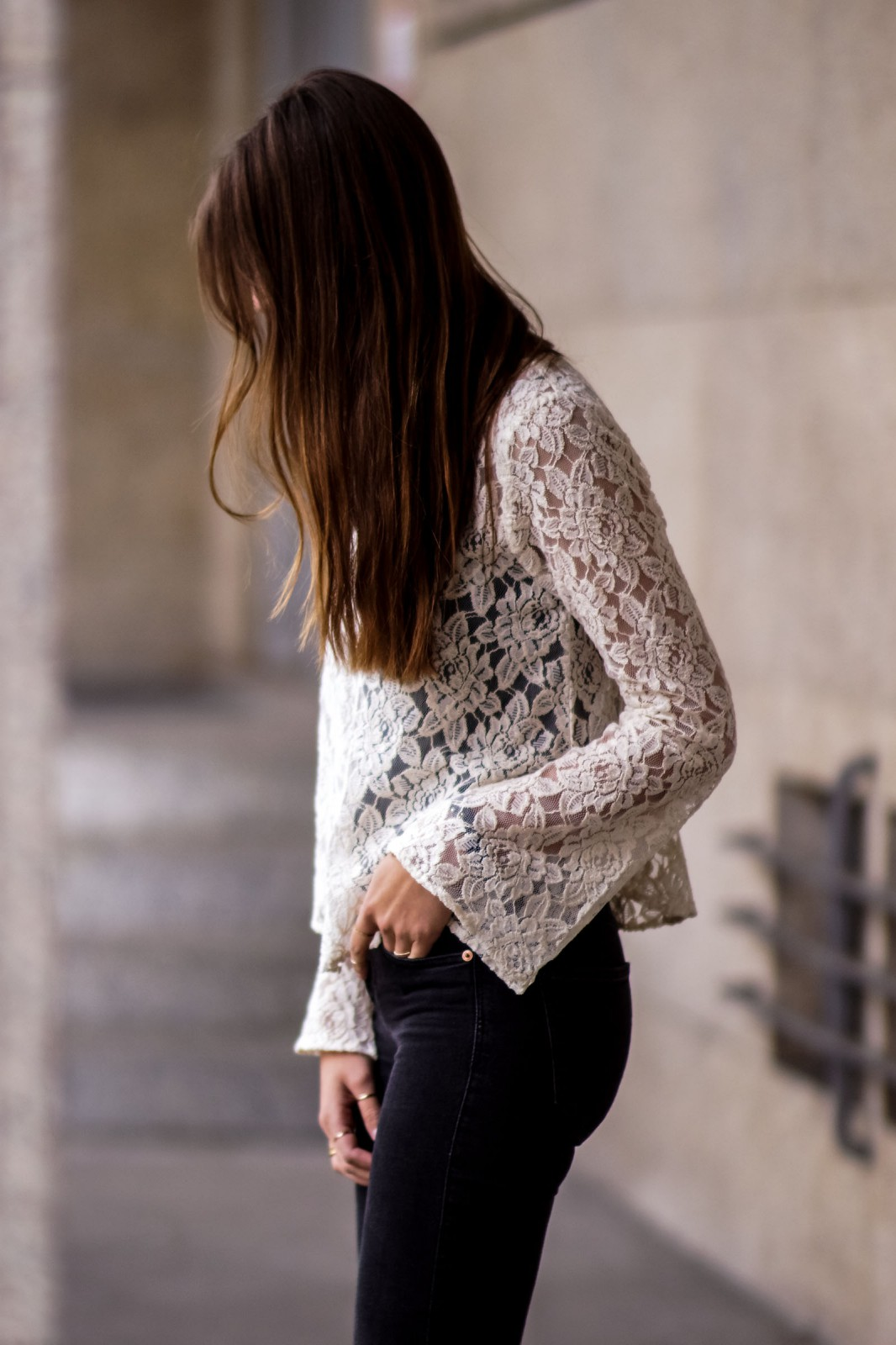 White Lace and Black Jeans