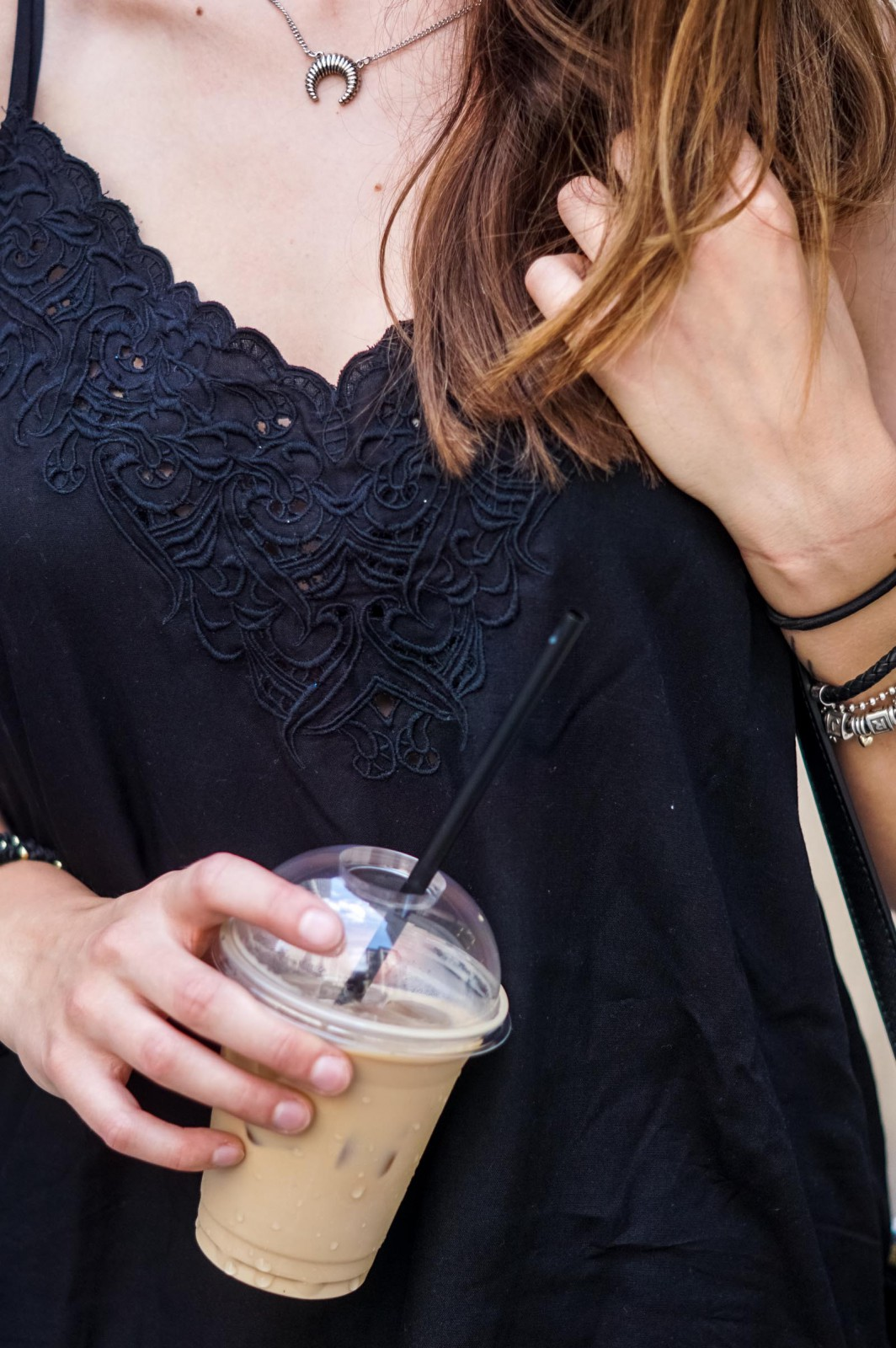 Iced Latte and Black Top