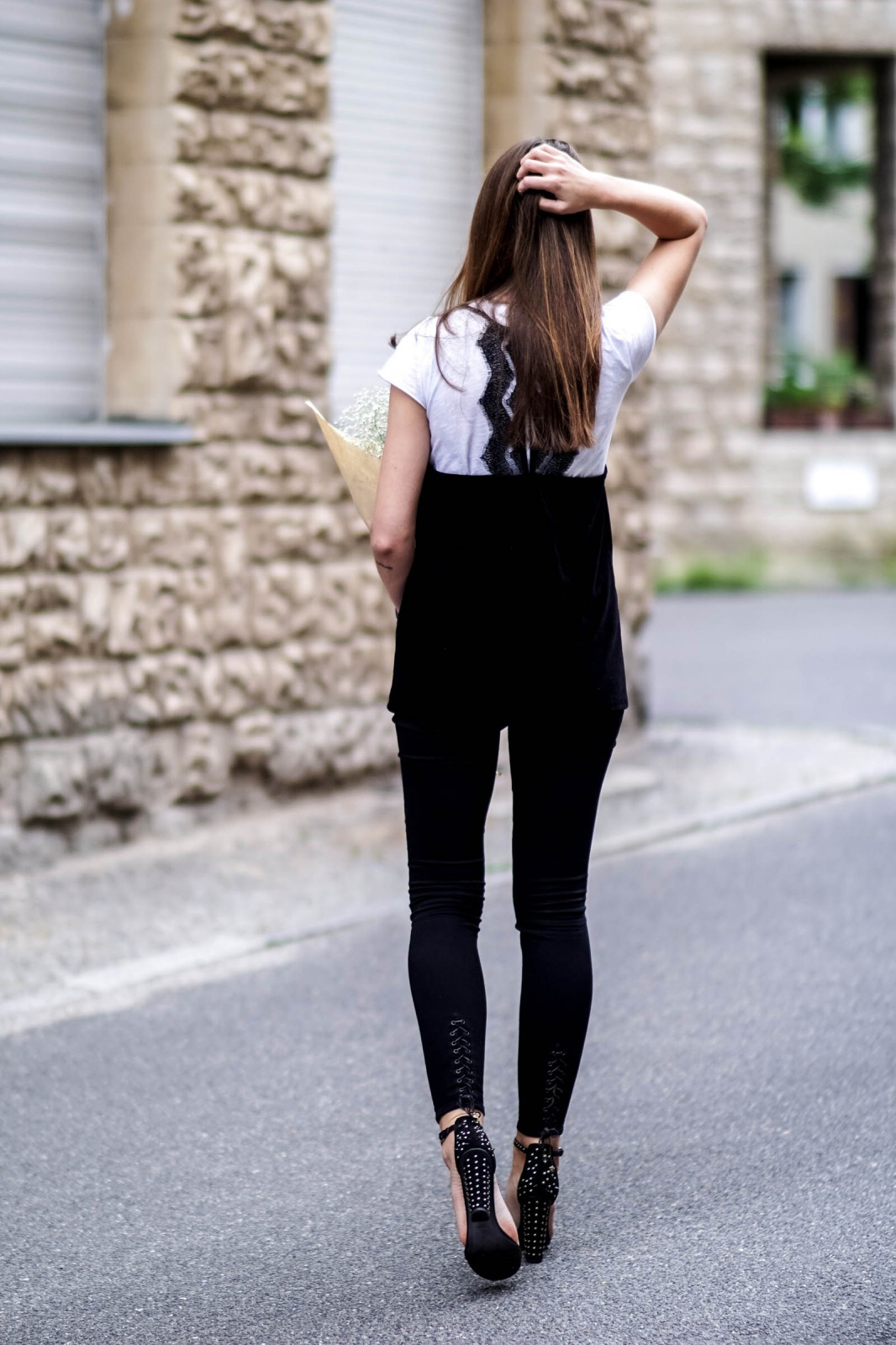 Black High Heels with studs