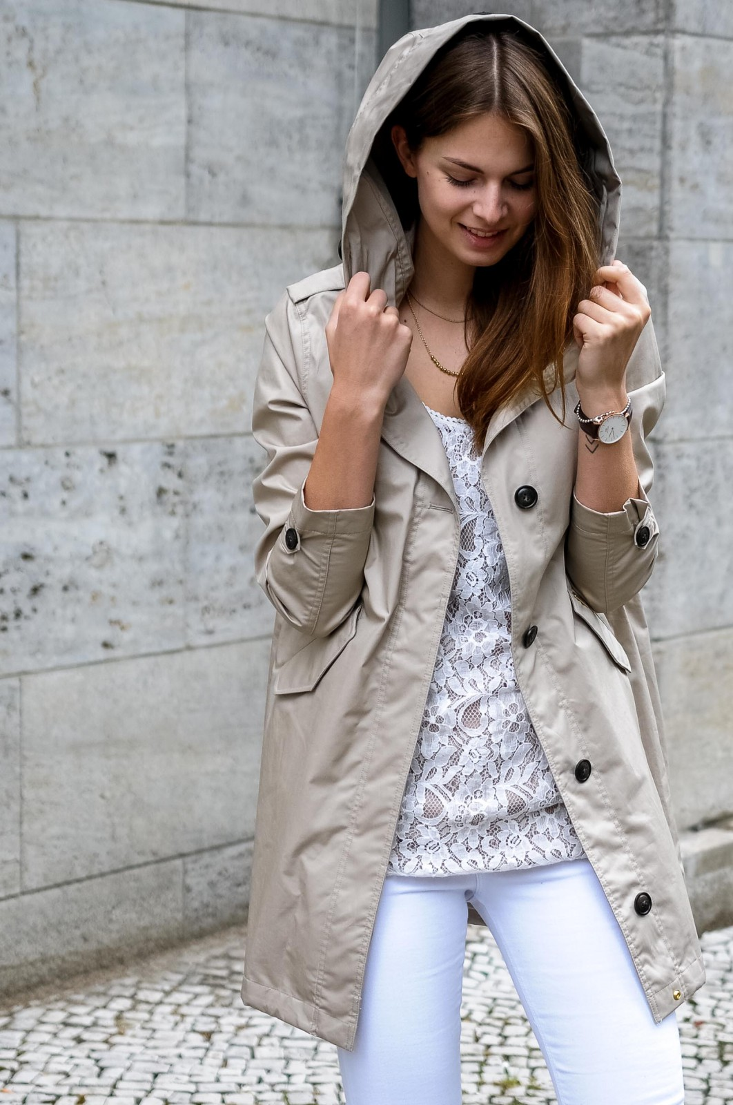Beige Parka for summer