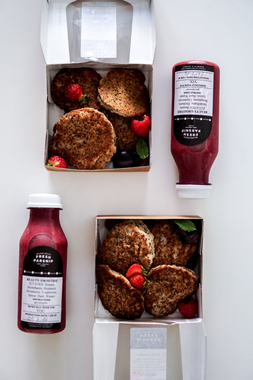 Mohn-Pancakes Fresh Parsnip