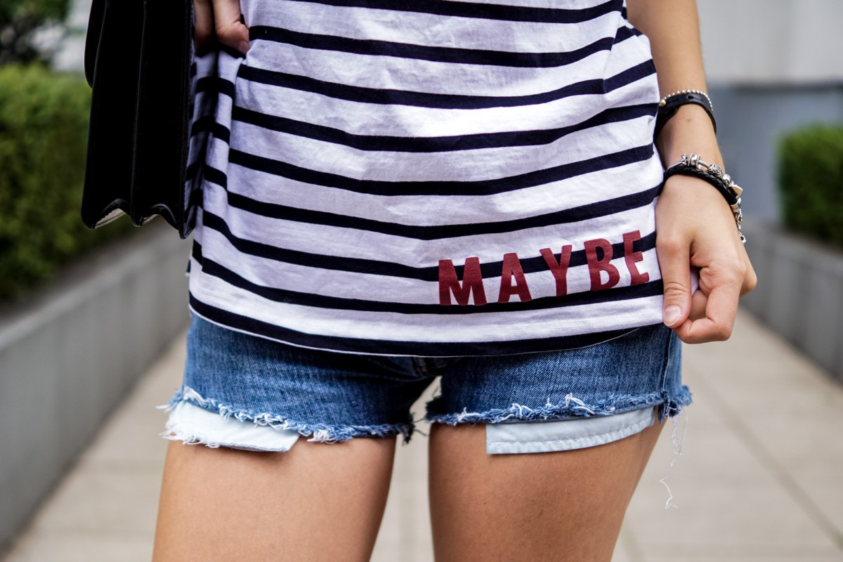Striped T-Shirt with Maybe Writing