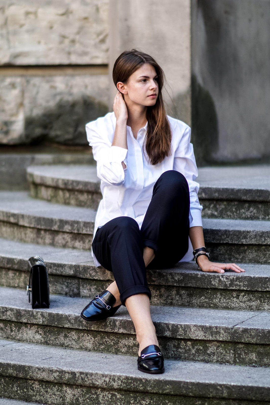 Black and white office outfit