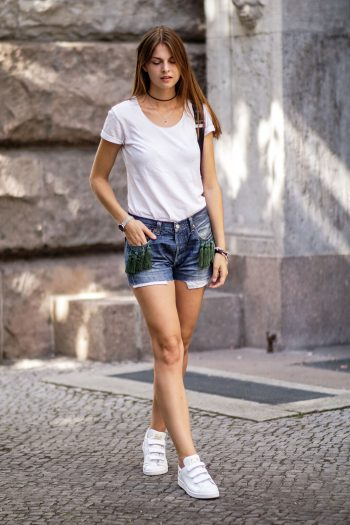 Shorts with Tassel Detail
