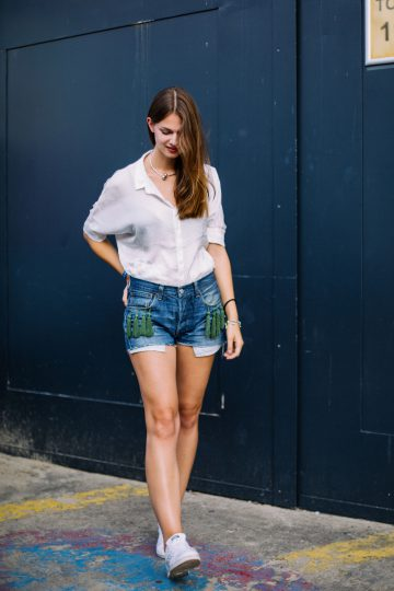 Levi's Denim Shorts with tassels