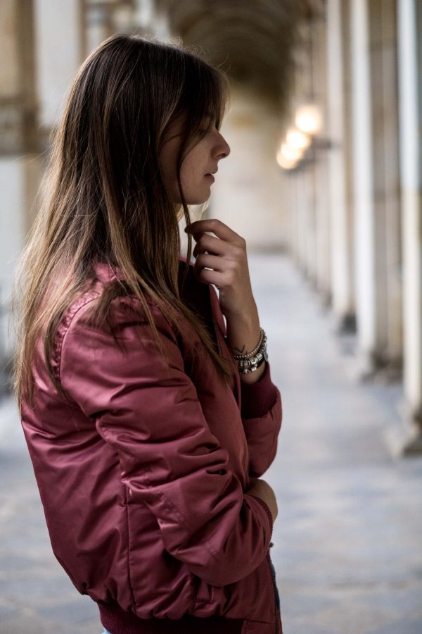 Autumn trend bomber jacket