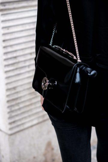 schwarze Gucci Tasche