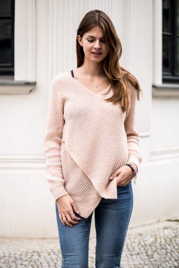 Pullover mit gekreuzter Vorderseite