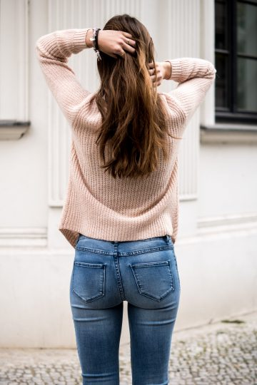 combining pink and denim