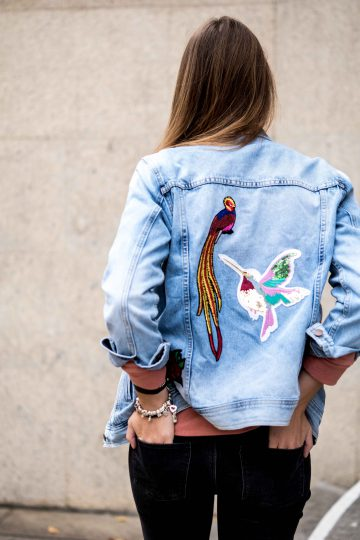 Denimjacke mit Patches