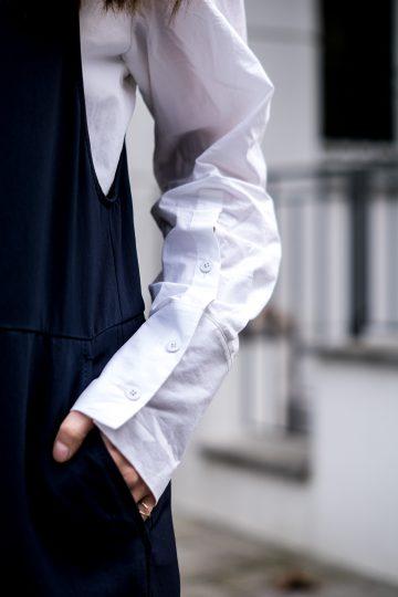 Weißes Shirt mit langen Ärmeln
