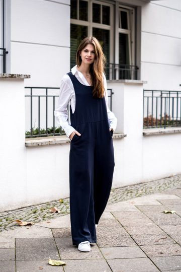 Jumpsuit with wide legs