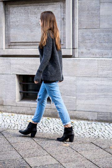 Wie trägt man Boyfriend Jeans