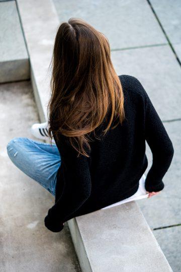 schwarzer Pullover von Vila