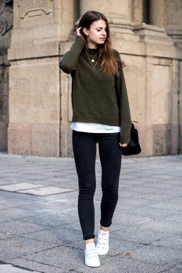 green Lee sweater