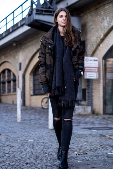 Camouflage and Black
