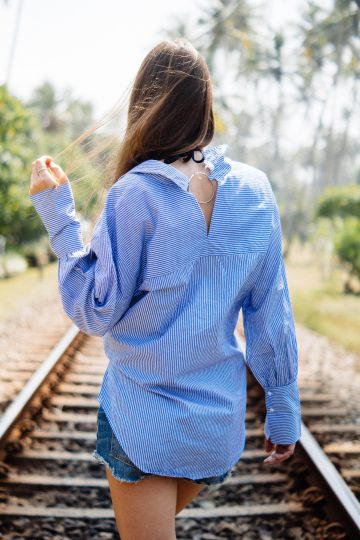 shirt with low-cut back