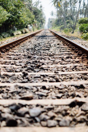 Bahngleise in Sri Lanka