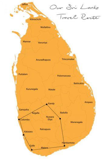 Unsere Reiseplanung für Sri Lanka