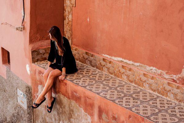 Bunte Wände in Marokko