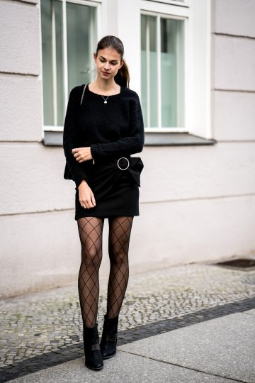 innovative black fishnet dress outfit wear