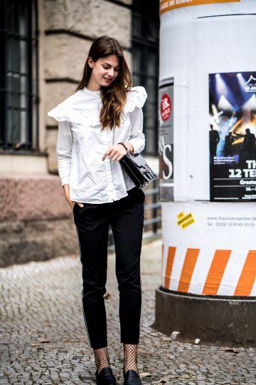 Wie trägt man eine schwarze Hose